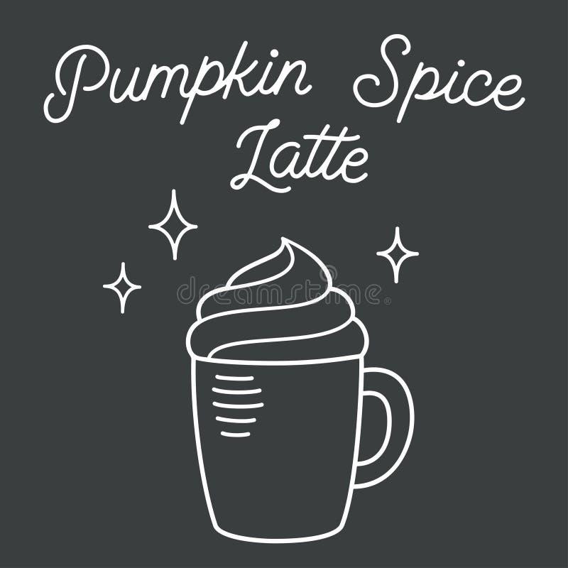 Pompoenkruid latte royalty-vrije illustratie
