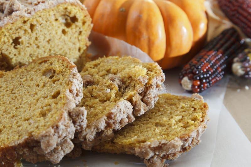 Pompoenkruid Poundcake stock foto