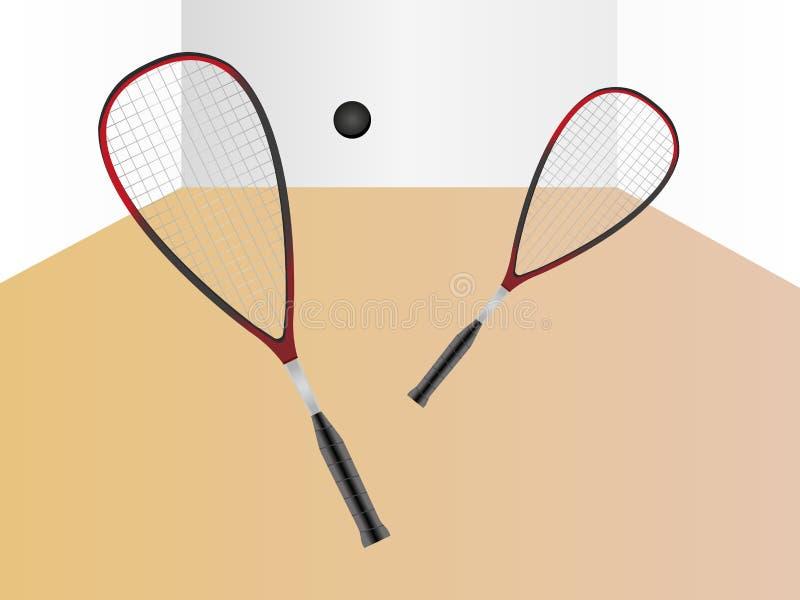 Pompoenspel - denkbeeldig spel tussen twee spelers stock illustratie