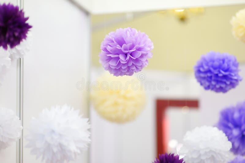 Pompoms ткани для партии стоковая фотография