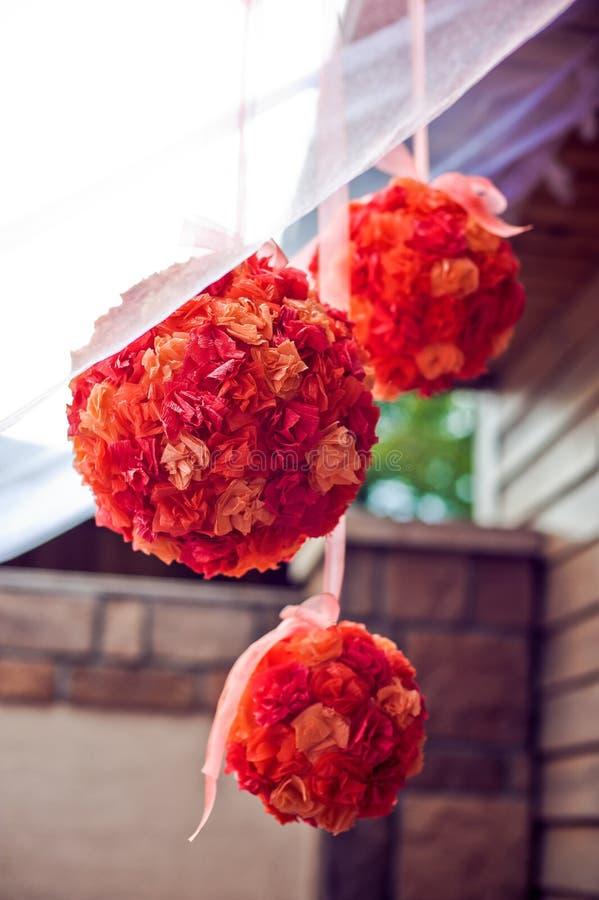 Pompoms ткани для партии стоковая фотография rf