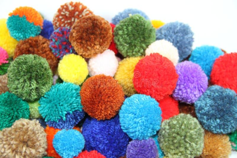 Pompoms шерстей стоковое изображение