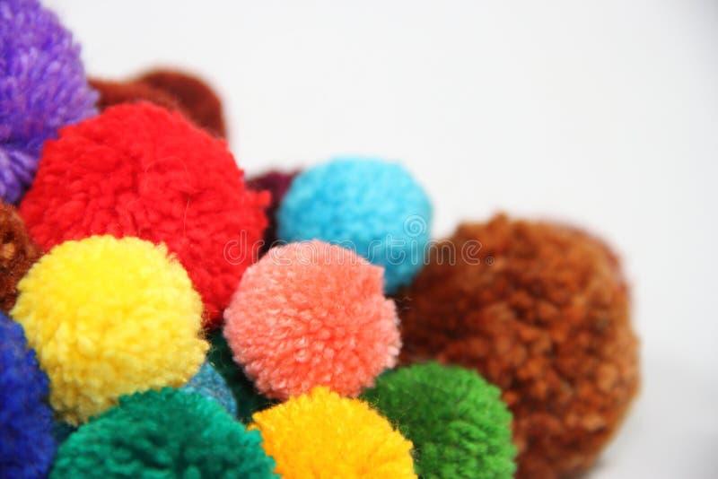 Pompons stock photo