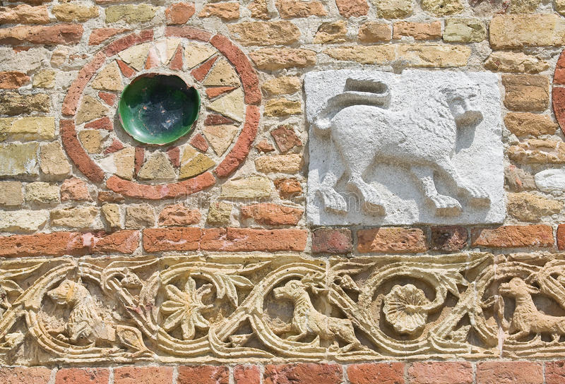 Pomposa Abtei. Codigoro. Emilia-Romagna. Italien. lizenzfreies stockbild