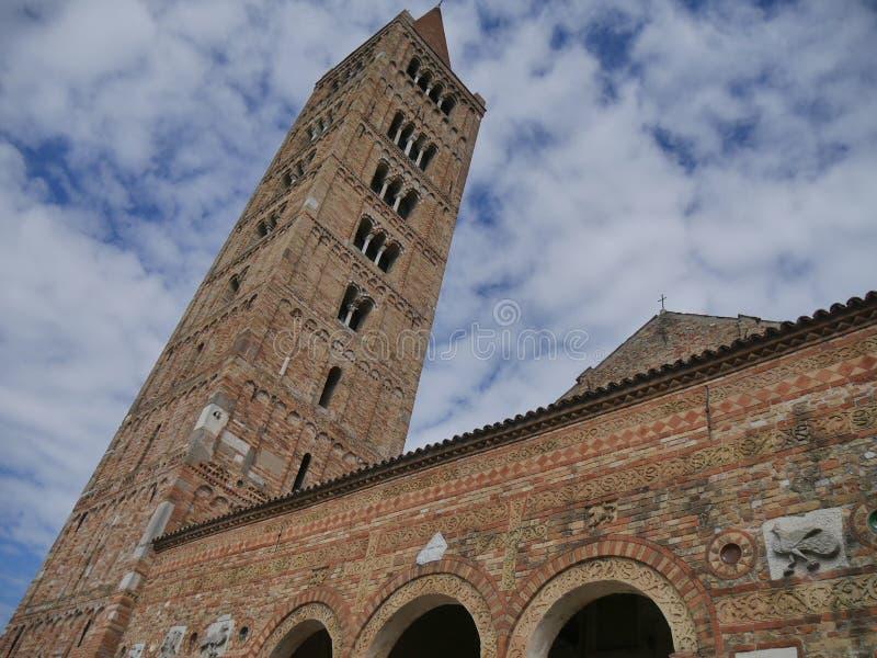 Pomposa-Abtei-Glockenturm stockfotografie