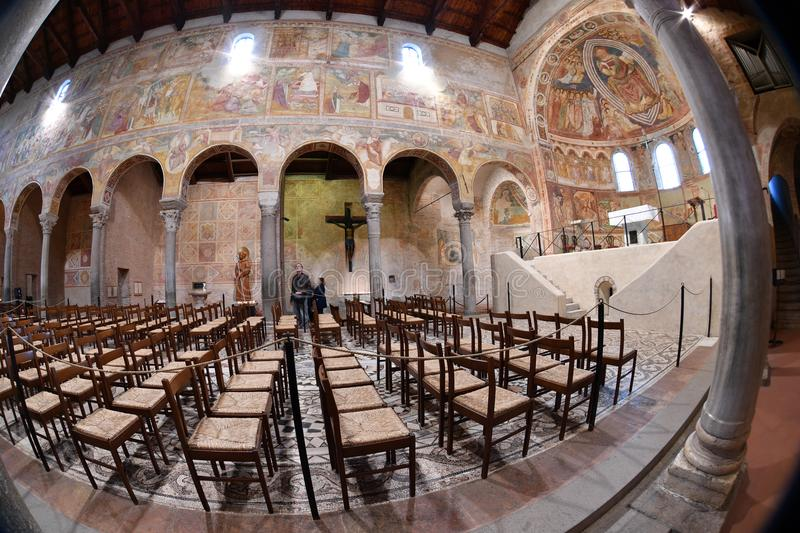 POMPOSA, ITALY - OCTOBER 9 2016 - Pomposa church abbey royalty free stock images