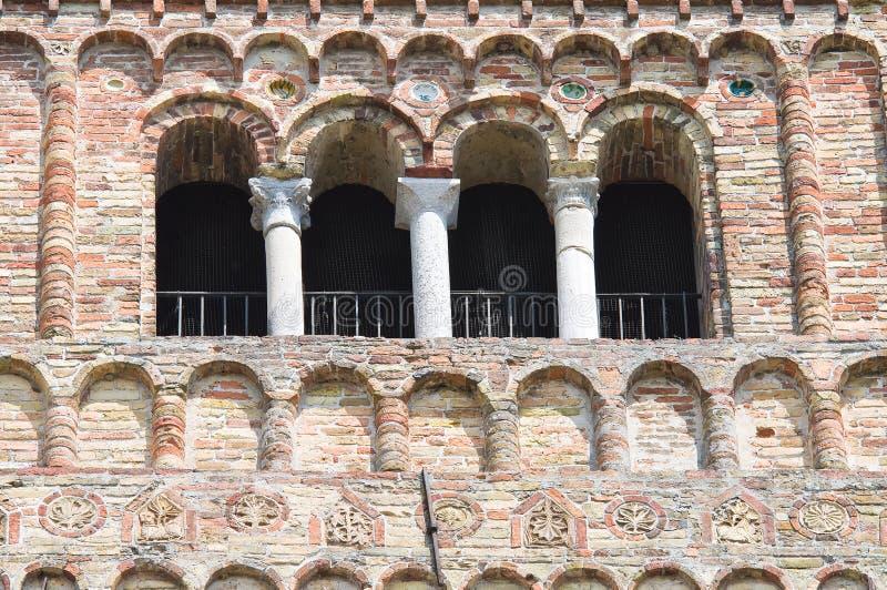 Pomposaabdij. Codigoro. Emilia-Romagna. Italië. royalty-vrije stock afbeelding