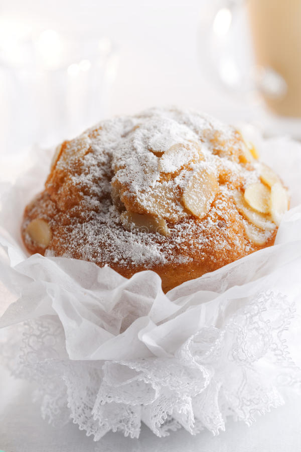 Download Pompous  Almond Muffin And Coffee On Background Stock Photo - Image: 14426912