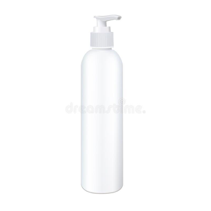 Pompowa kierownicza butelka Photorealistic wektorowy mockup gotowy dla produktu projekta royalty ilustracja
