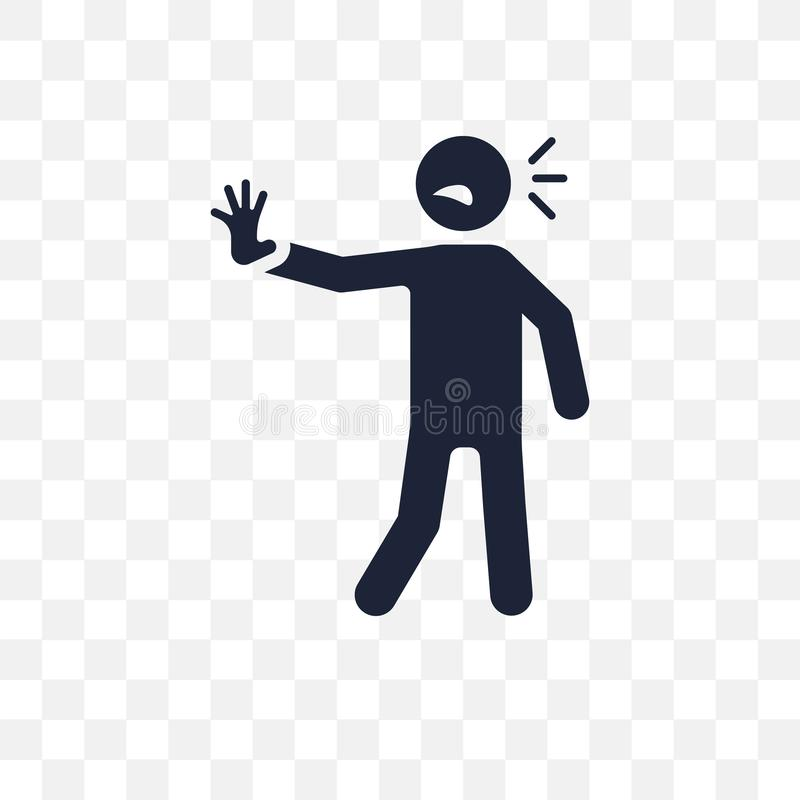 pompująca ludzka przejrzysta ikona pompujący ludzki symbolu projekt od F royalty ilustracja