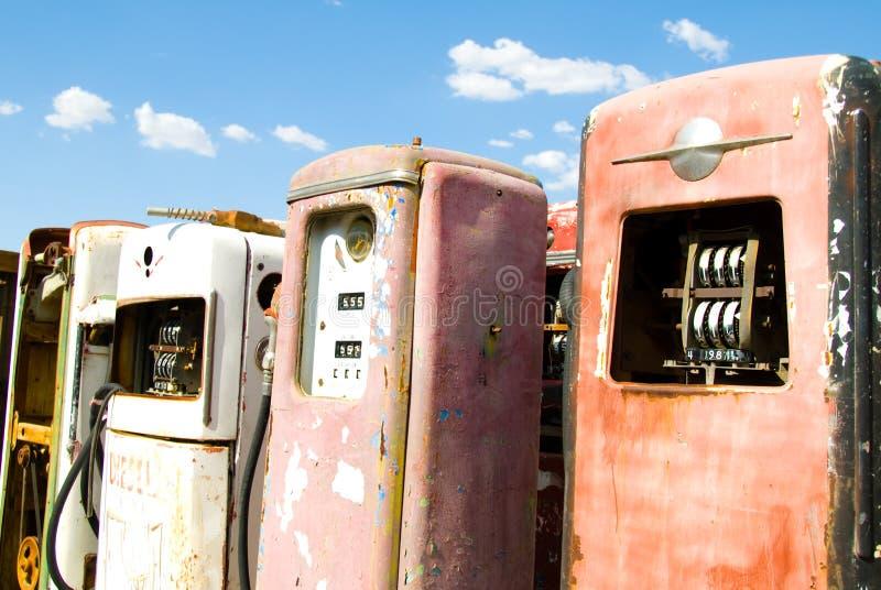 pompy rdzewieli rocznego gazowe zdjęcie stock