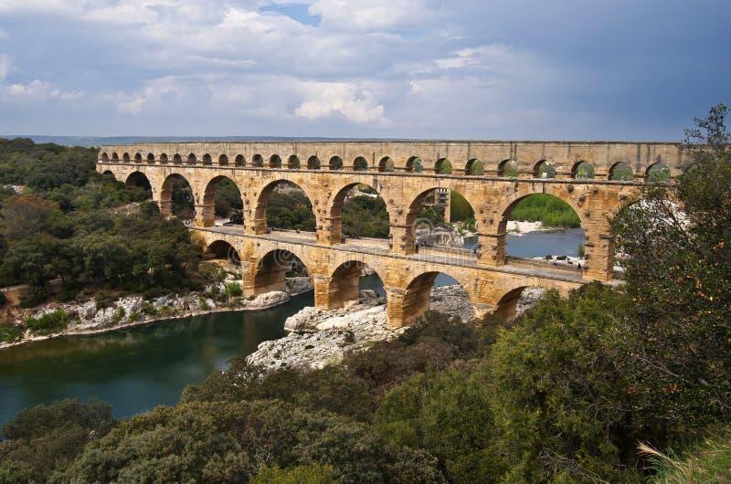 Download Pomt du Gard stock photo. Image of pont, landscape, stone - 25109138