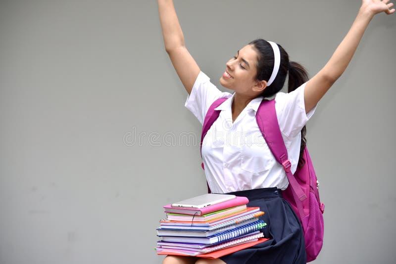 Pomyślna Śliczna Kolumbijska osoba Jest ubranym mundurek szkolnego fotografia royalty free