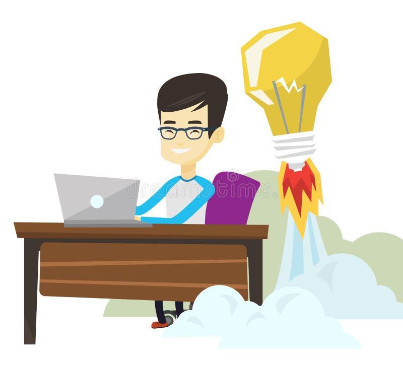 Pomyślna biznesowa pomysłu wektoru ilustracja ilustracja wektor