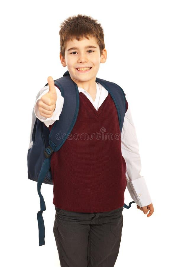 Pomyślna szkolna chłopiec zdjęcie stock