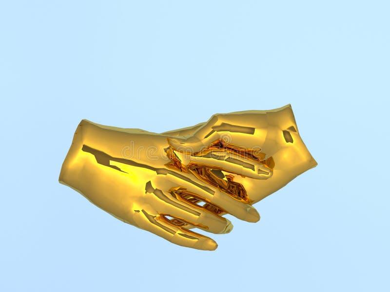 Pomyślni ludzie biznesu handshaking minimalny pojęcie pomysł 3D r royalty ilustracja