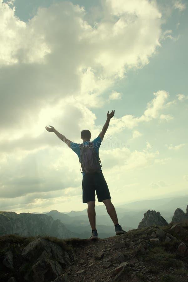 Pomyślni ludzie sportów, motywacja, inspiracja zdjęcie stock