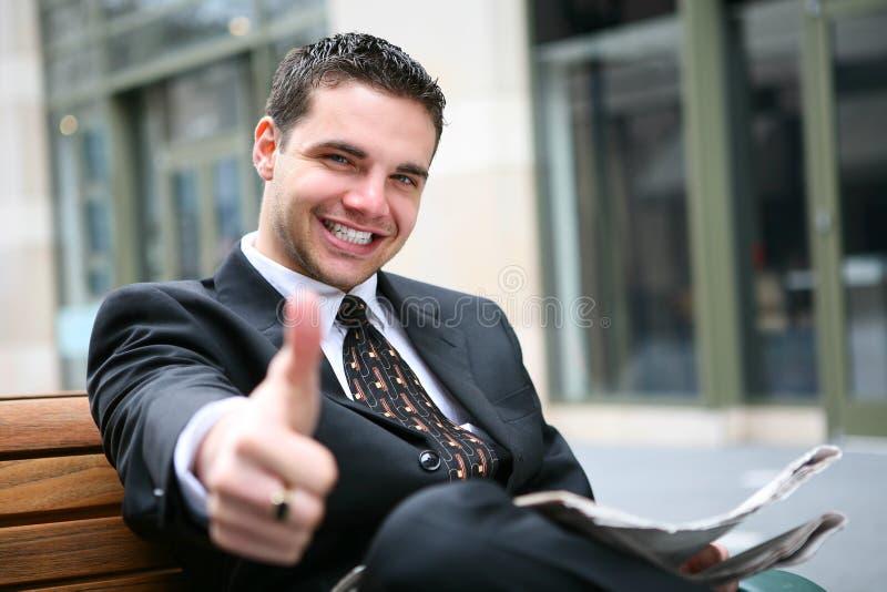 pomyślny biznesowy mężczyzna zdjęcie stock