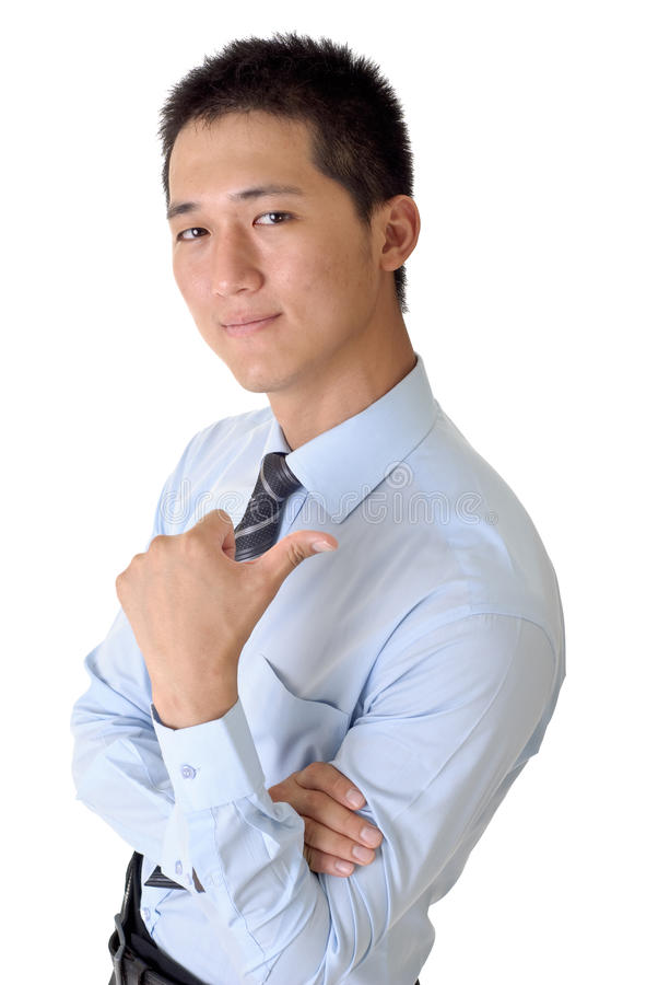 pomyślny biznesowy mężczyzna fotografia royalty free