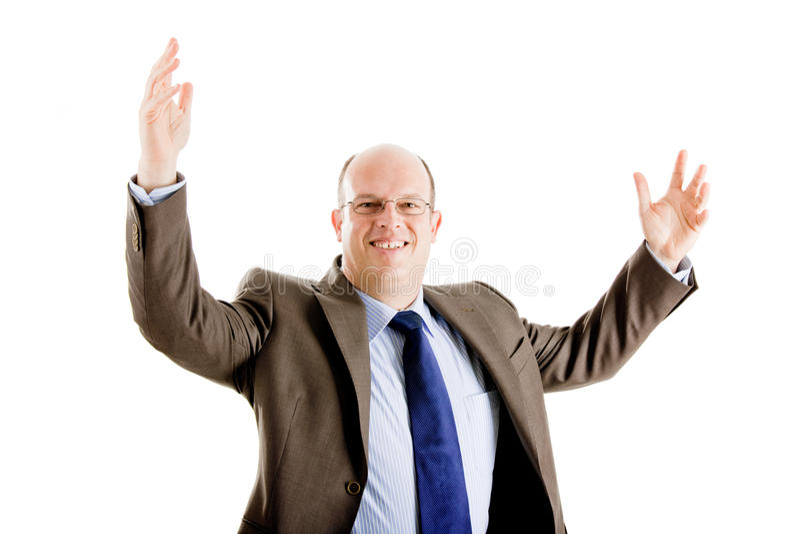Download Pomyślny Biznesowy Szczęśliwy Mężczyzna Obraz Stock - Obraz złożonej z dojrzały, ufny: 13342885