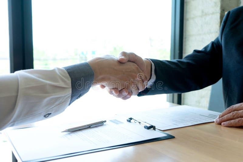 Pomyślny biznesowy wywiad obrazy stock