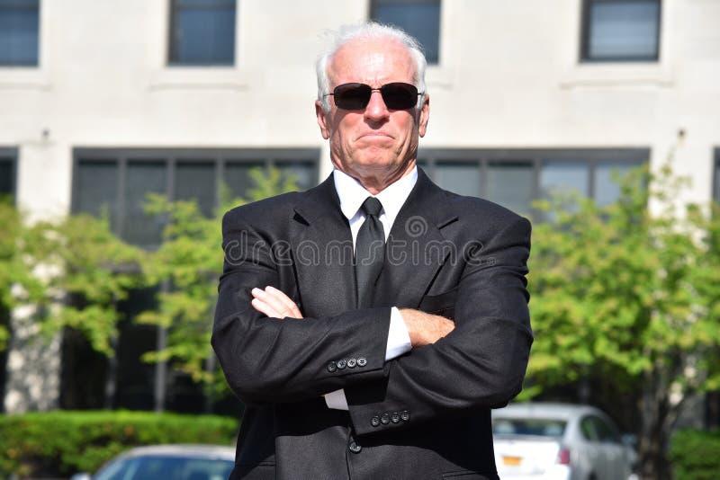 Pomyślny Dorosły Starszy Męski polityk Jest ubranym kostium zdjęcie royalty free