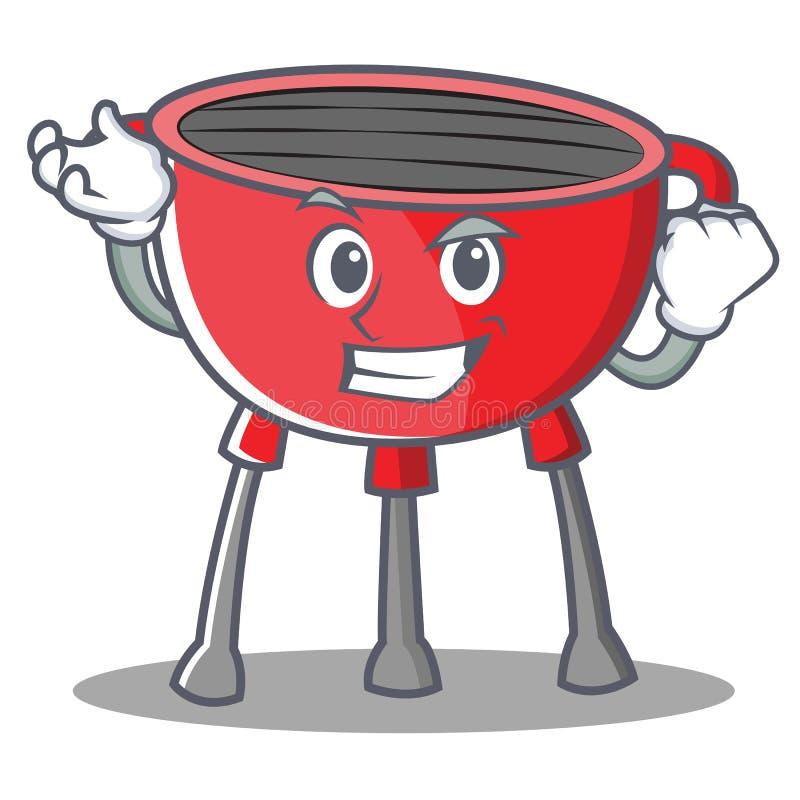Pomyślny grilla grilla postać z kreskówki ilustracja wektor