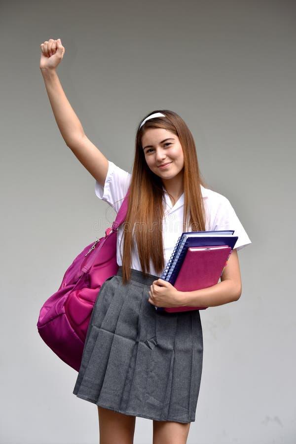 Pomyślny Katolicki Kolumbijski dziewczyna uczeń zdjęcie royalty free