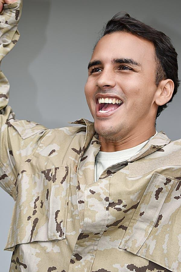 Pomyślny Męski żołnierz zdjęcia stock