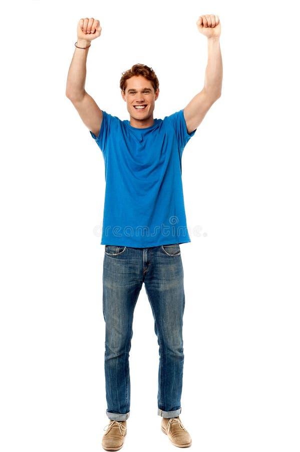 Pomyślny młody wysoki mężczyzna fotografia stock