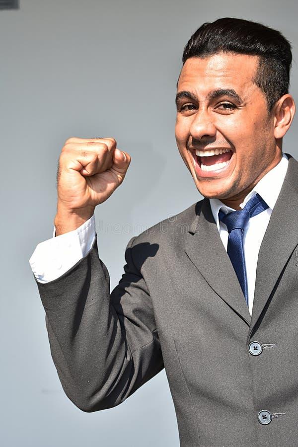 Pomyślny Mniejszościowy Biznesowy mężczyzna zdjęcie stock