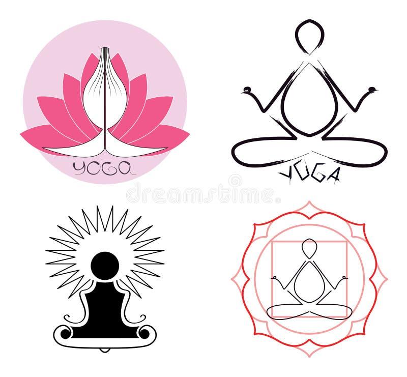 pomysłów loga joga royalty ilustracja
