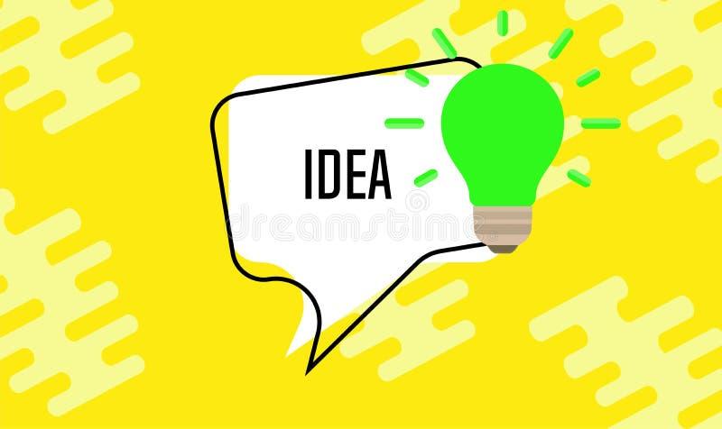 Pomysł żarówki pojęcia kreatywnie biznesowy lampowy wektor Projekt wyobraźni ikony znak Wymyślenia rozwiązania edukaci odosobnion ilustracji