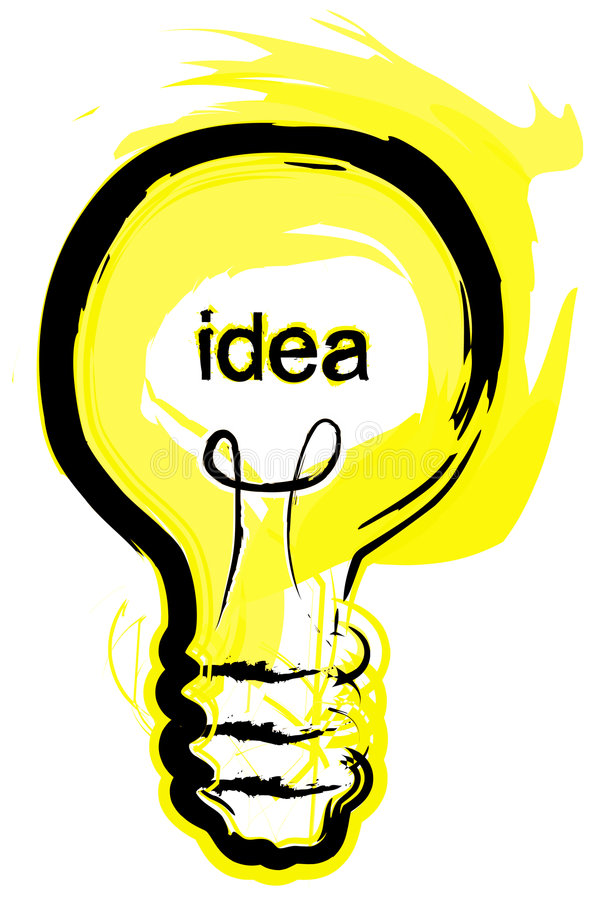 pomysł bańki, światło royalty ilustracja