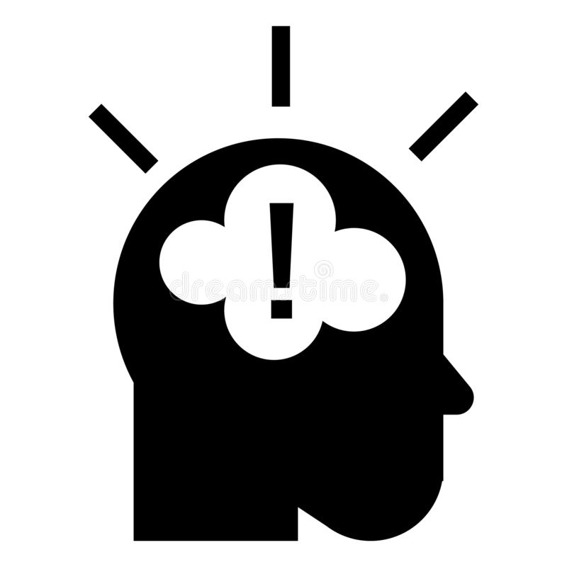 Pomysł brainstorming ikonę, prosty styl royalty ilustracja