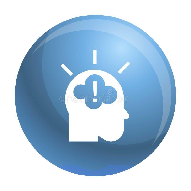 Pomysł brainstorming ikonę, prosty styl ilustracja wektor