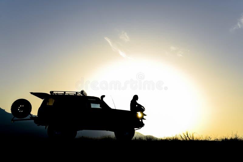 Pomysł camping i awanturniczy spirytusowy plan fotografia royalty free