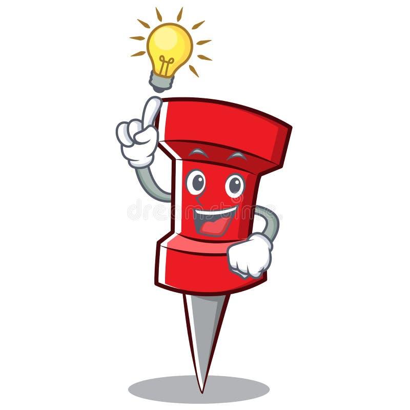 Pomysł czerwieni szpilki charakteru kreskówkę ilustracja wektor