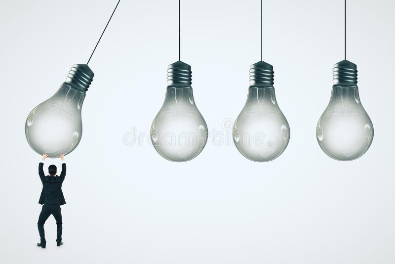 Pomysł i innowaci pojęcie ilustracji
