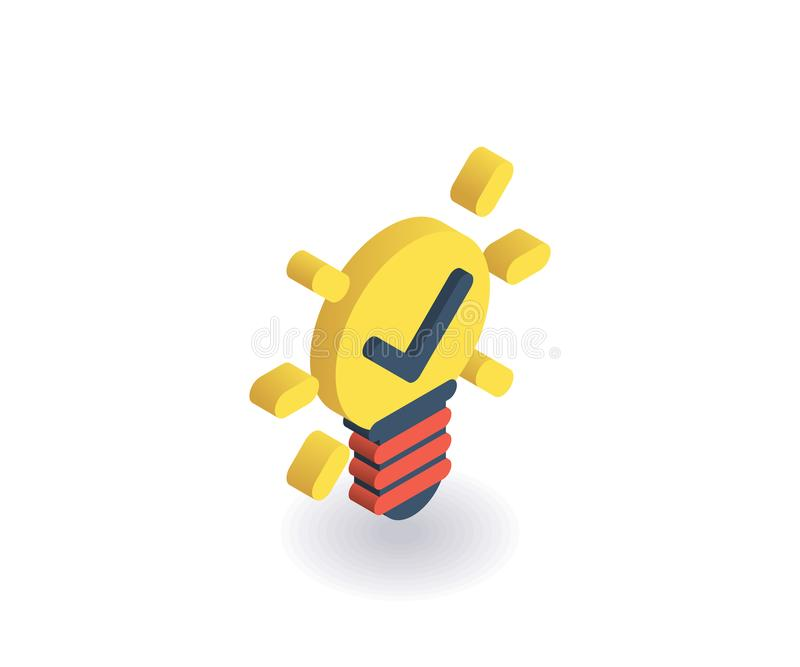 Pomysł ikona Wektorowa ilustracja w płaskim isometric 3D stylu ilustracja wektor