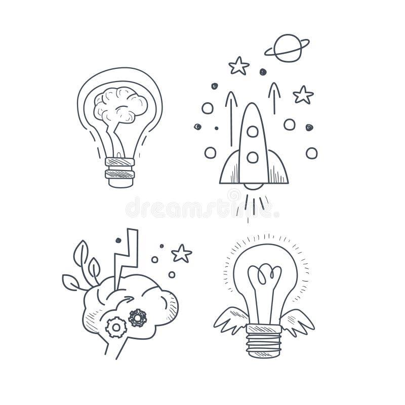 Pomysł ikony Symboliczny set royalty ilustracja