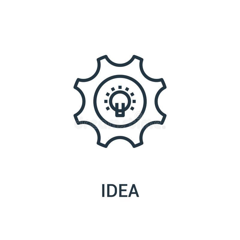 pomysł ikony wektor od seo kolekcji Cienka kreskowa pomysłu konturu ikony wektoru ilustracja Liniowy symbol dla używa na sieci i  royalty ilustracja