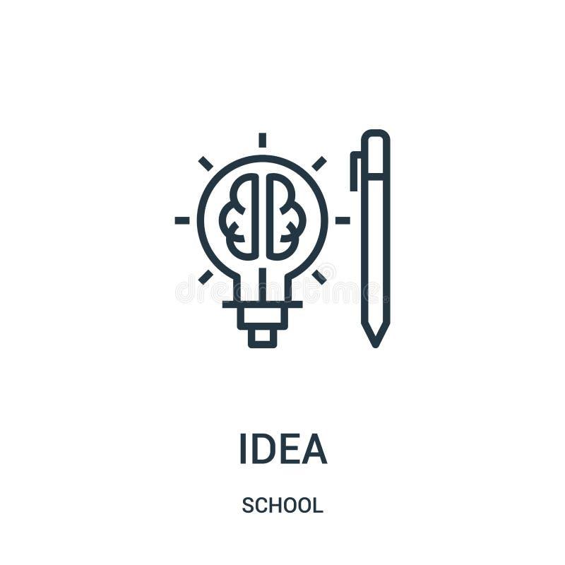 pomysł ikony wektor od szkolnej kolekcji Cienka kreskowa pomysłu konturu ikony wektoru ilustracja Liniowy symbol dla używa na sie ilustracji