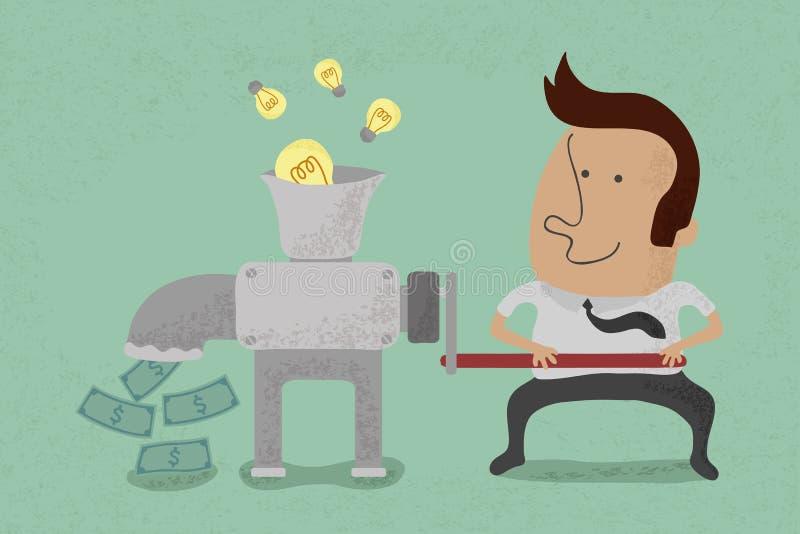 Pomysł jest równy pieniądze ilustracji