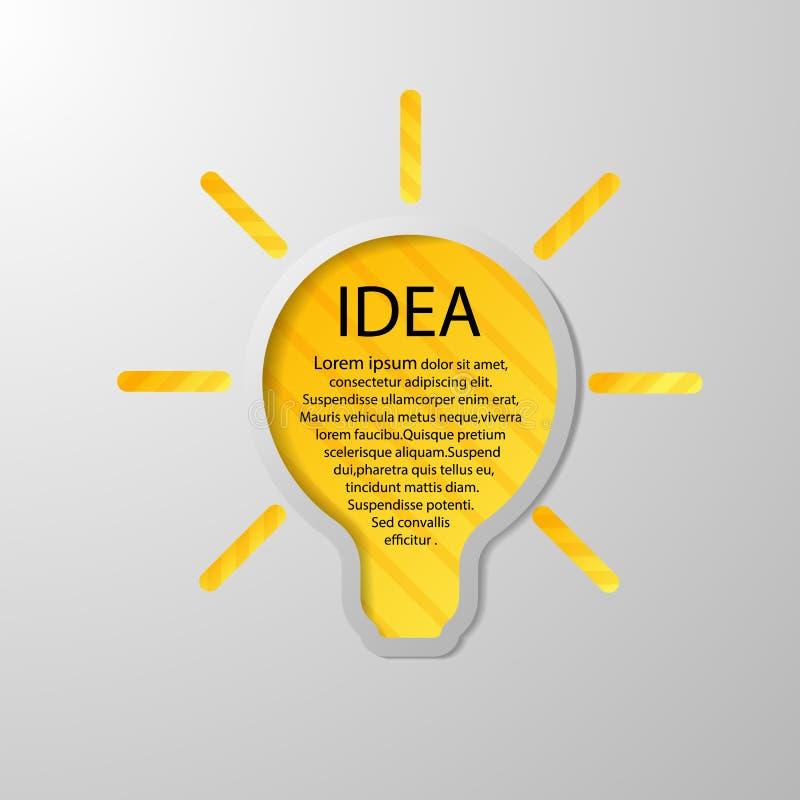 Pomysł lampa zdjęcie royalty free