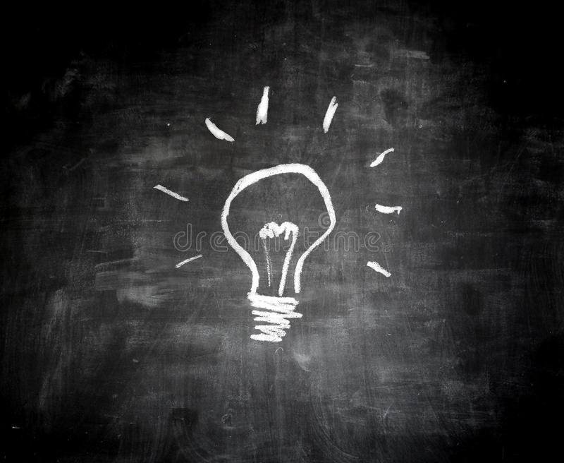 Pomysł na blackboard ilustracji