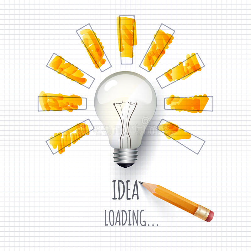 pomysł Projekt postępu bar, ładownicza twórczość ilustracji