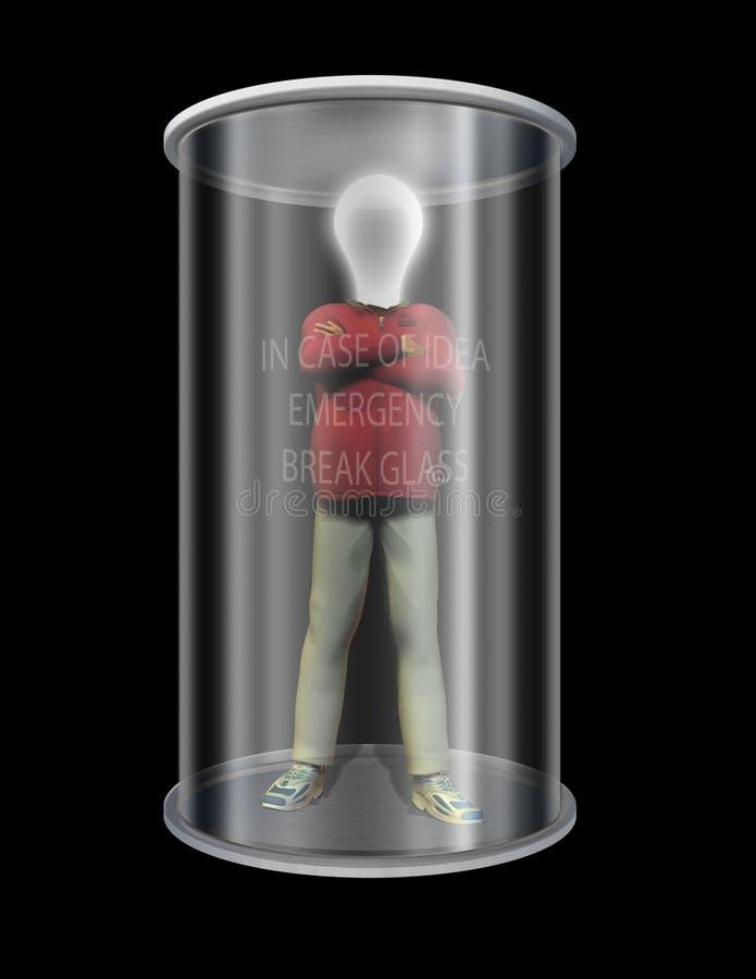 pomysł szkła człowieku ilustracji