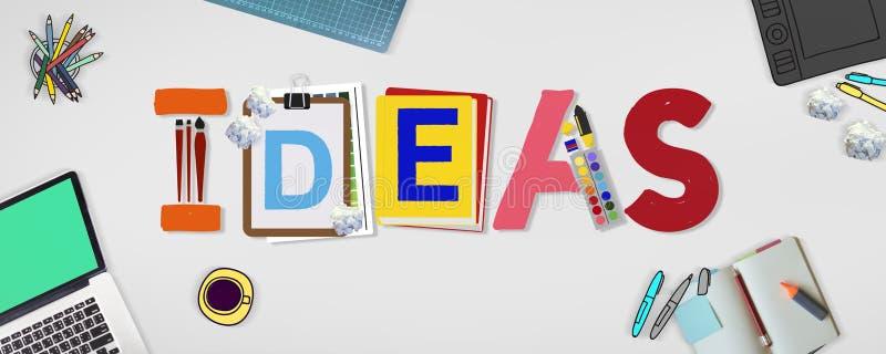 Pomysł sztuki projekta słowa Kreatywnie pojęcie obraz stock