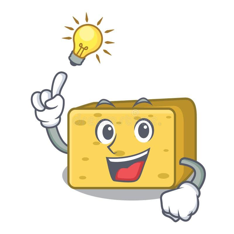 Pomysłu gouda sera maskotki kreskówkę ilustracja wektor